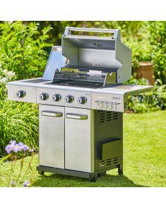 Outback 2020 Jupiter Hybrid BBQ in stainless steel